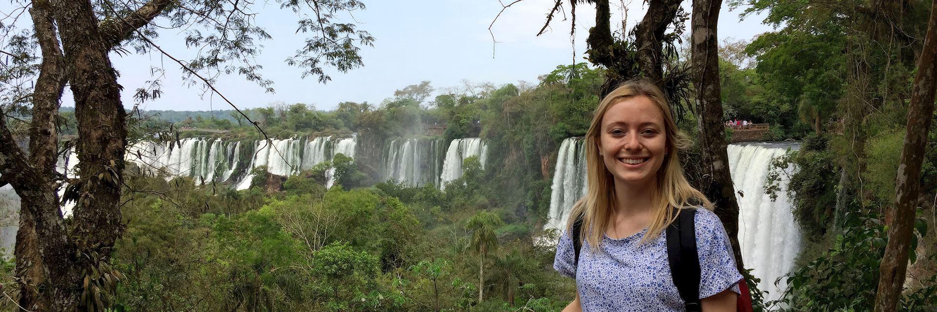 Chloe at Iguazú Falls, Argentina