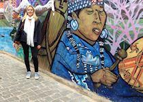 Chloe visiting Valparaiso, Chile