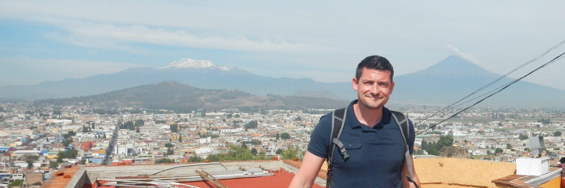 Latin America specialist Chris in Popocatepetl, Mexico
