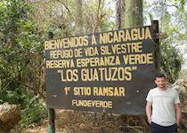 Chris on the Costa Rica, Nicaragua border