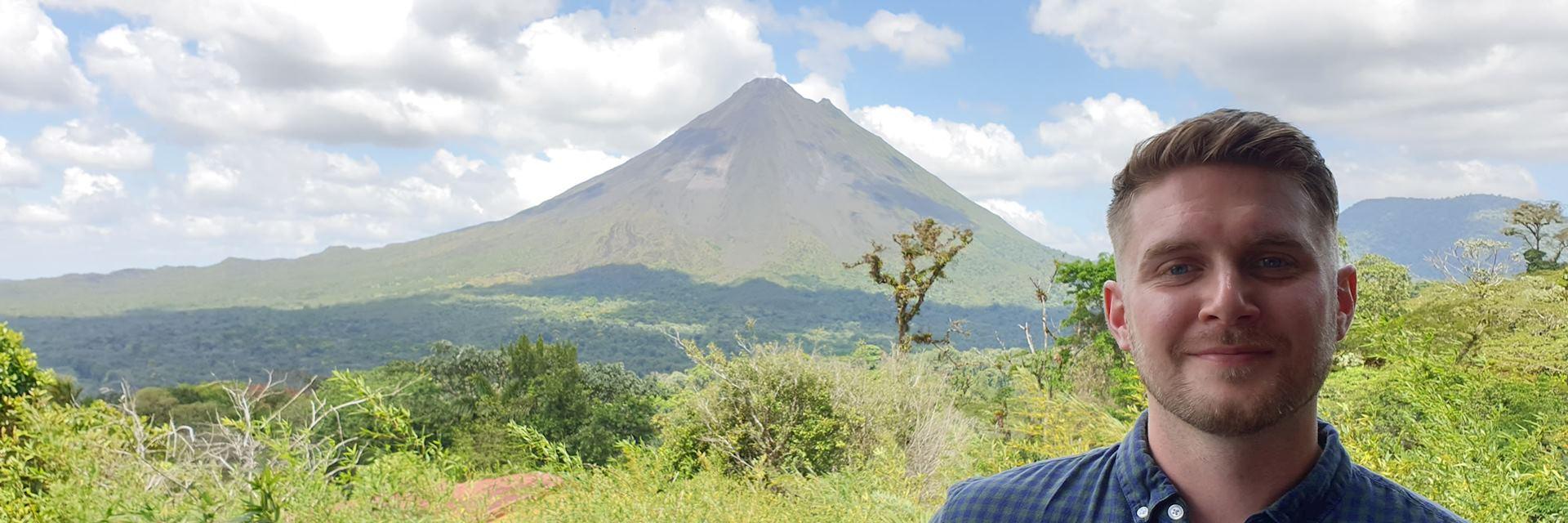 Dan at Arenal Volcano, Costa Rica