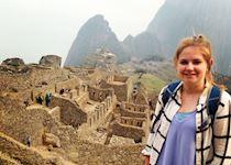 Ella at Machu Picchu, Peru