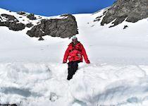 Fiona on the Antarctica Peninsula