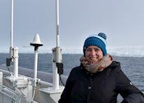 Fiona on an Arctic cruise