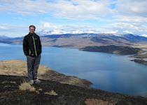 Iain enjoying the views in Patagonia