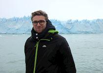 Iain admiring the Perito Moreno Glacier, El Calafate, Argentina