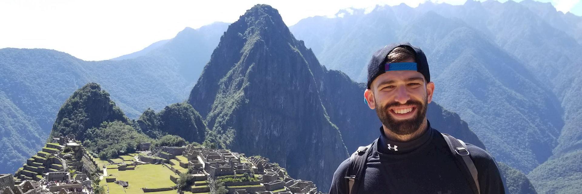 Josh at Machu Picchu, Peru