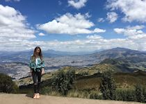 Lauren on the outskirts of Quito,  Ecuador