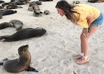 Lauren with a seal lion
