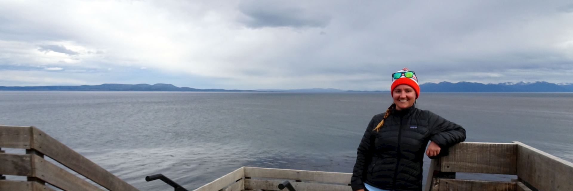 Liz in Puerto Natales, Chile