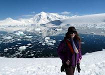Lizzie in Antarctica