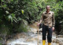 Michael on a river trek from Mashpi Lodge, Ecuador