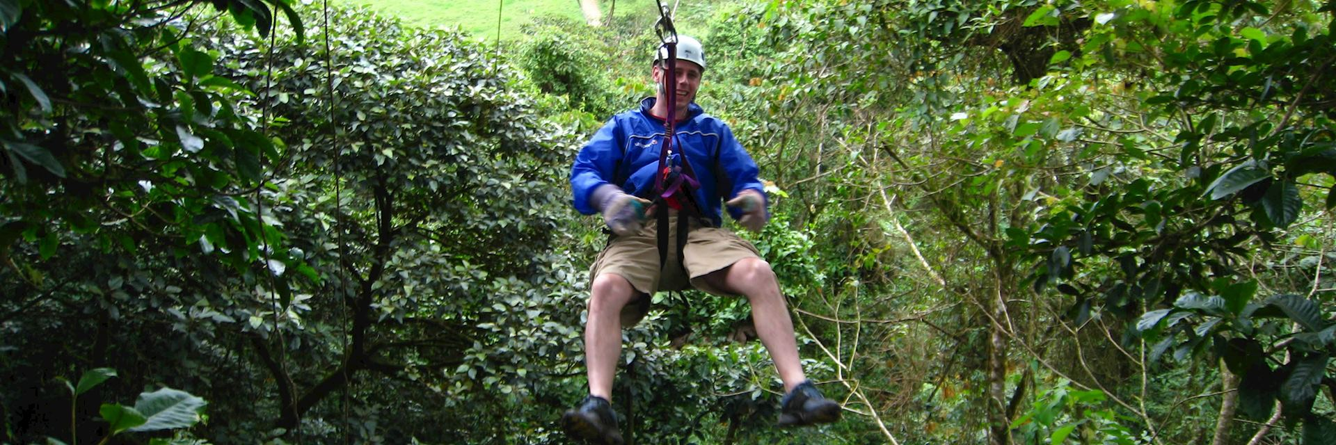 Nick zip-lining at San Ramon, Costa Rica