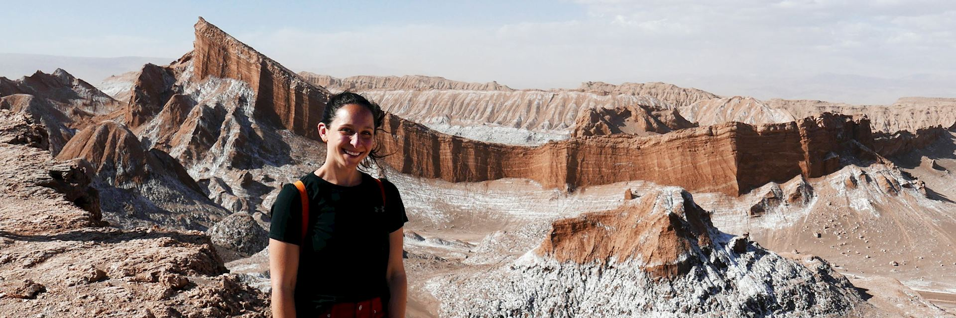 Olivia in Moon Valley, Atacama Desert, Chile