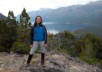 Rebecca in the Lake Disctrict, Argentina