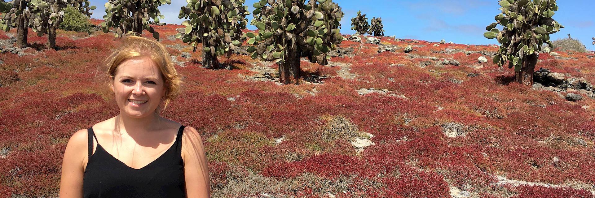 Rosalind visiting the Galapagos Islands