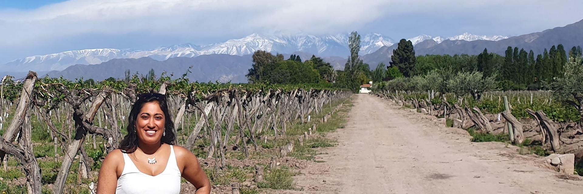 Shivani in Mendoza, Argentina
