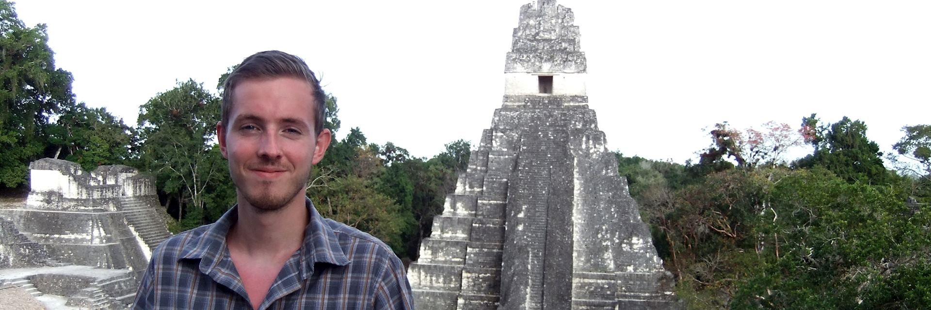 Tom visiting the temples at Tikal, Guatemala