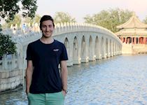 Anthony visiting the Summer Palace in Beijing, China
