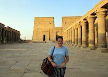 Cheryl at Philae Temple, Egypt