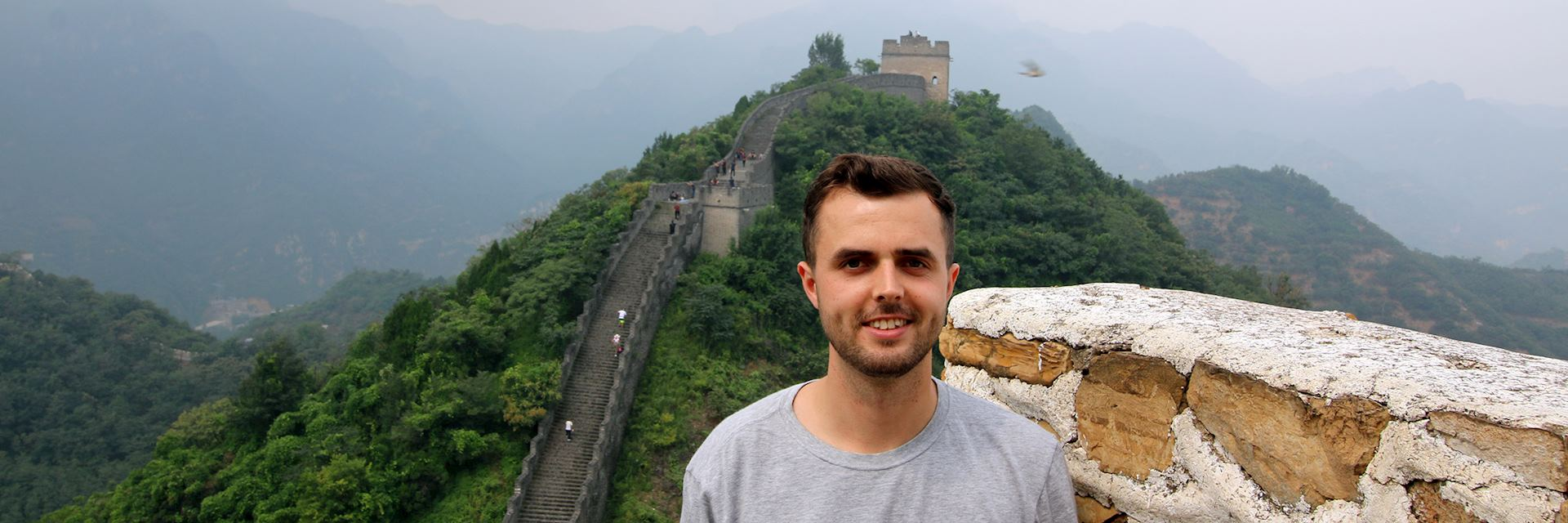 Duncan visiting the Great Wall at Huangyaguan, China