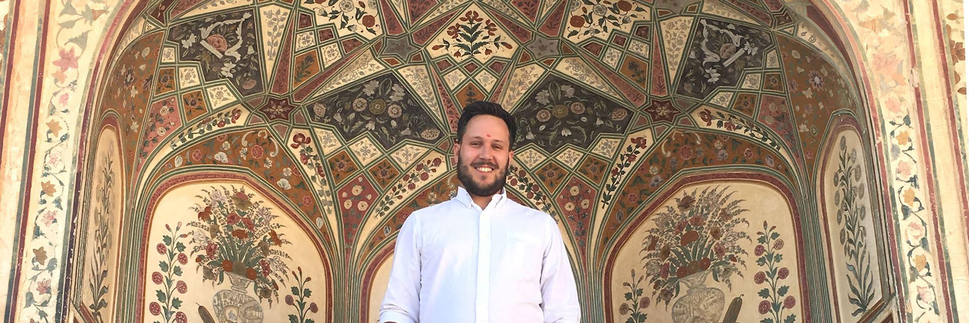 John at the City Palace, Jaipur