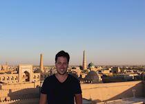 John in Khiva, Uzbekistan