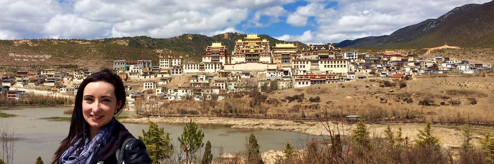Susan at Songzanlin Monastery, Zhongdian, Yunnan