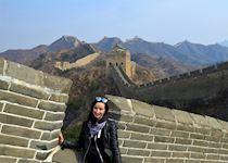 Susan on part of The Great Wall of China, Hebei Province