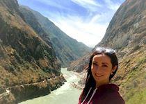Susan at Tiger Leaping Gorge, Yunnan