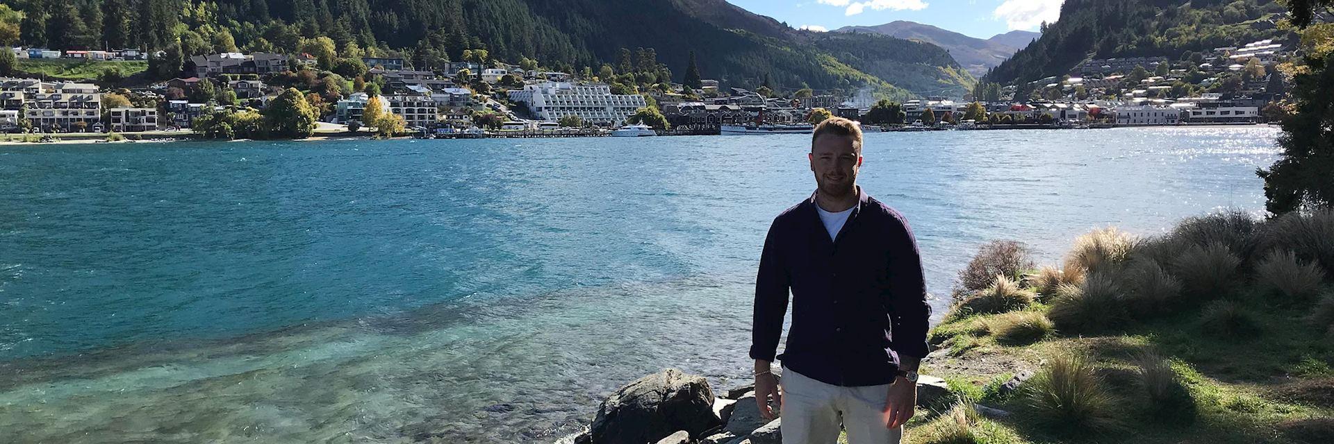 David visiting Queenstown, New Zealand