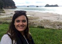 Esther on Hahei Beach, New Zealand