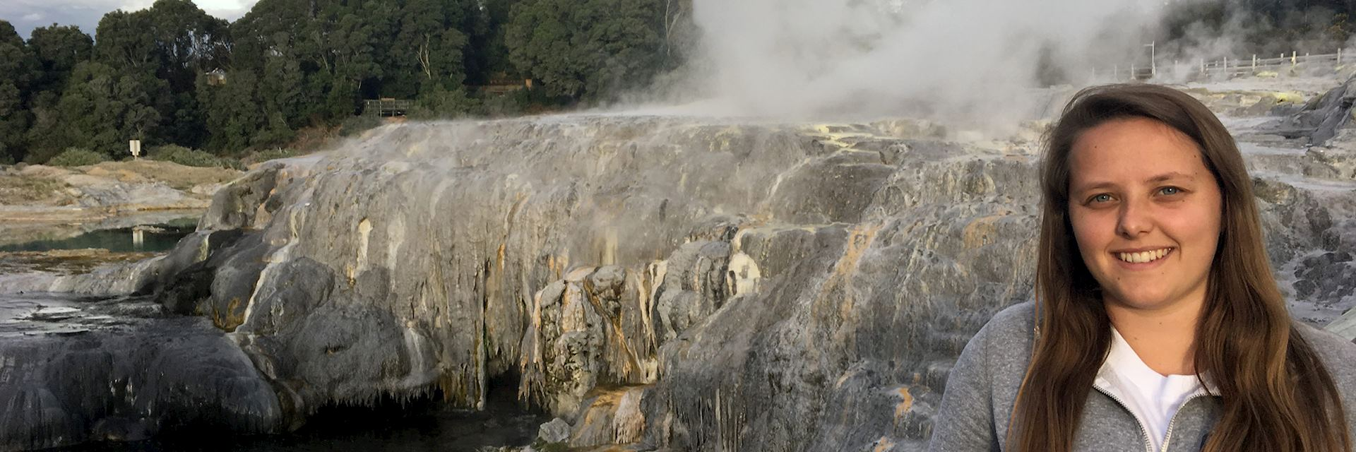 Katie in Rotorua, New Zealand