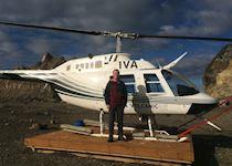 Leon on a flight over the Franz Josef Glacier