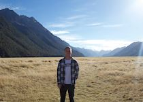 Leon during a stop on his journey to Milford Sound