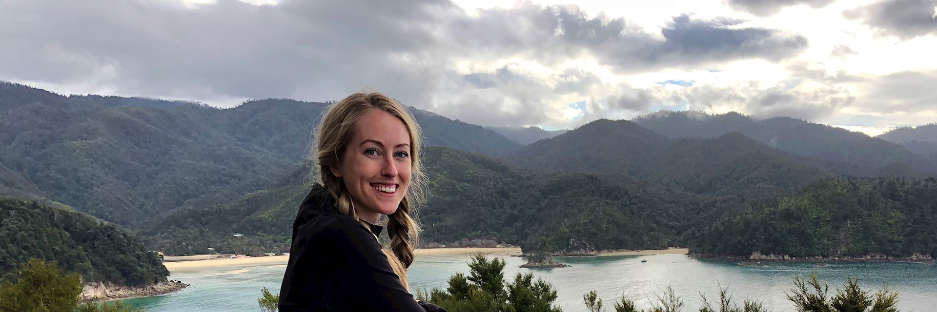 Mary in Abel Tasman National Park, New Zealand