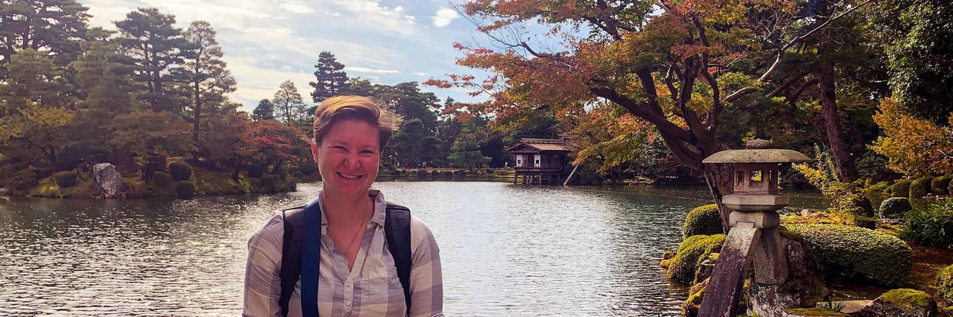 Alexandra at Kenroku-en, Kanazawa, Japan