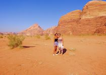 Charlotte and an Audley colleague in Wadi Rum, Jordan
