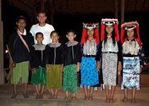 Dan enjoying an evening's entertainment at Lisu Lodge, Thailand