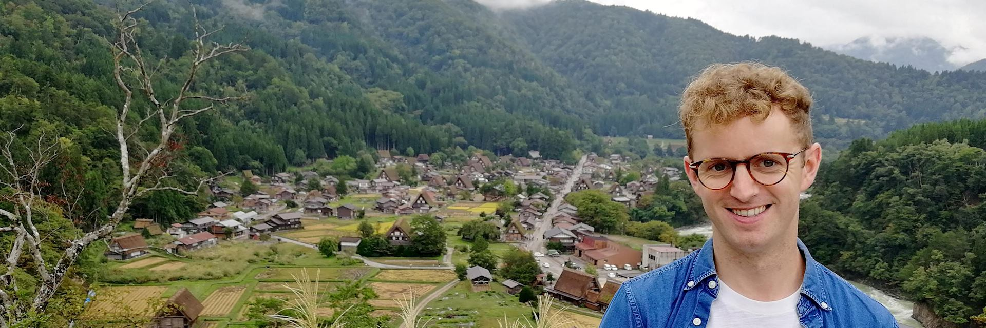 David visiting Shirakawago, Japan