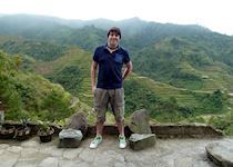 David visiting the ancient rice terraces in Banaue, Philippines