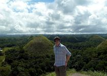 David enjoying the Chocolate Hills of Bohol in the Philippines