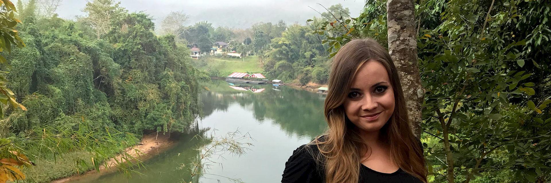 Elyssa in Kanchanaburi, Thailand