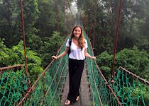 Emily on a canopy walk in the Danum Valley, Borneo