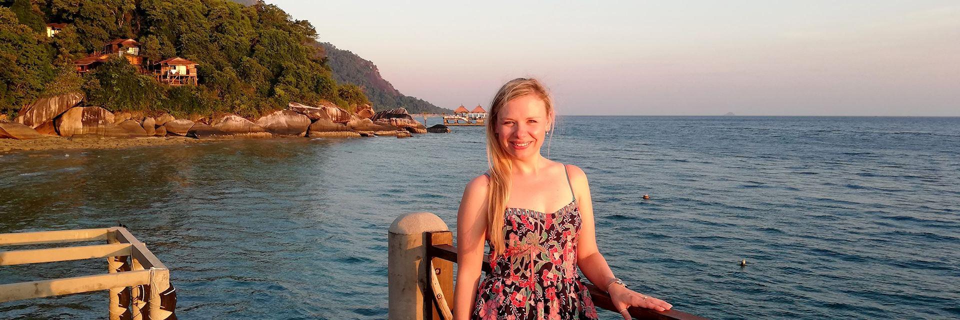Emma visiting Tioman Island, Malaysia