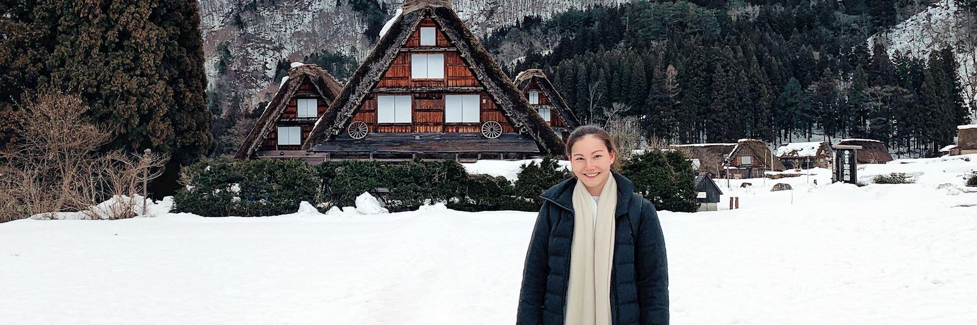 Hannah in Shirakawa-Go
