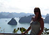 Harriet in Halong Bay, Vietnam