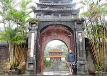 Hayley at the mausoleum of Vietnam's emperors in Hue