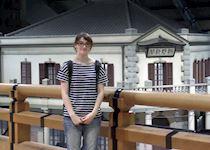 Hilary visiting Edo-Tokyo Museum, Japan