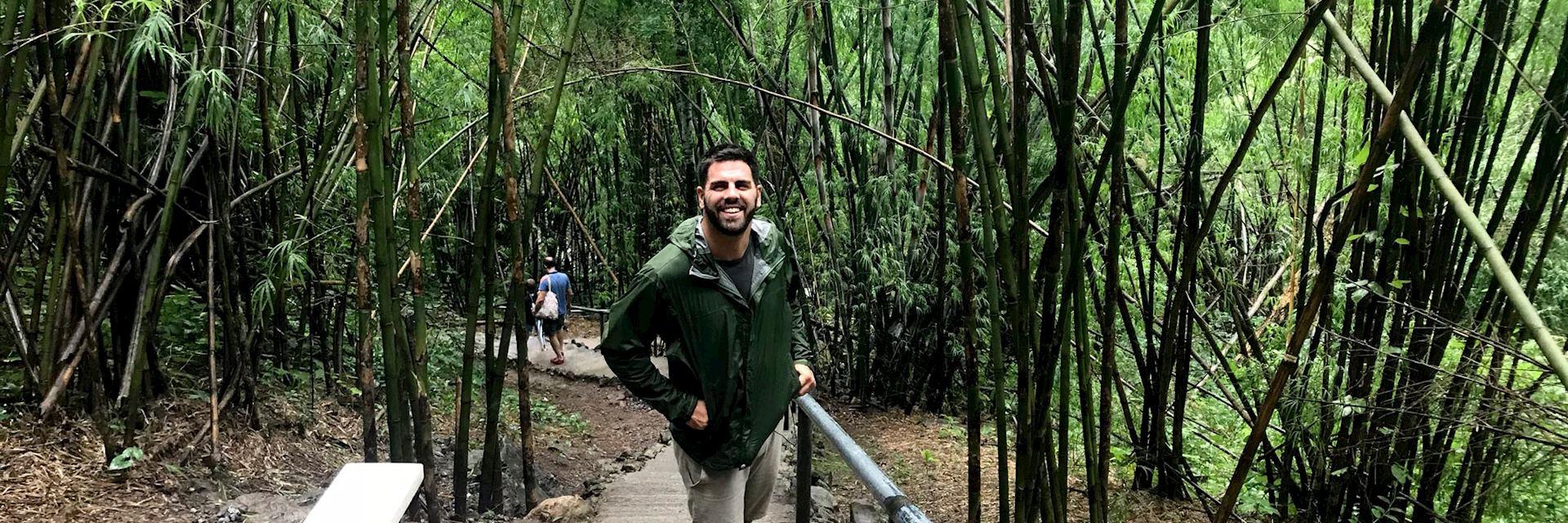 Ian hiking to Hellfire Pass, Thailand
